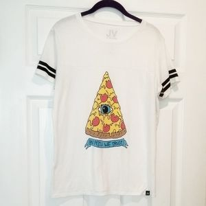 JV by JAC VANEK in pizza we trust tee